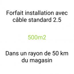 Forfait installation 500m2