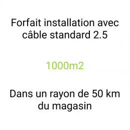 Forfait installation 1000m2
