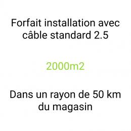 Forfait installation 2000m2