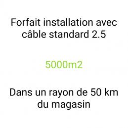 Forfait installation 5000m2