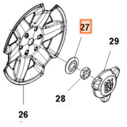 Rondelle roue arrière G3
