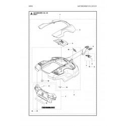 CIRCUIT IMPRIME COMPLET CAPTEUR DE FIL AUTOMOWER 320